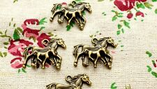 Horse mare & foal charms 4 bronze vintage style pendant charm jewellery C785