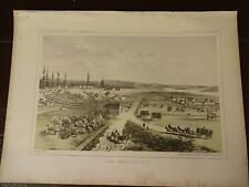 """Lithograph of """"FORT VANCOUVER"""" /John Mix Stanley/1860 Railroad Survey Report"""