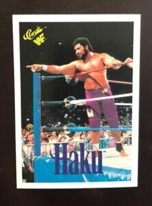 1990 Classic WWF HAKU #35 Wrestling Card