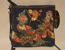 "Mary Frances ""Borneo"" Beaded Tropical Parrot Bird Crossbody Handbag Purse NWT"