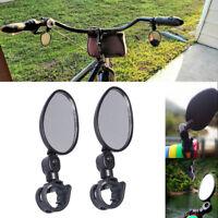 2* Flexible Bike Bicycle Handlebar Glass Rear View Cycling Cycle Rearview Mirror