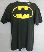 Batman Mens T-Shirt New Black Logo Glows in the Dark DC Comics Free Shipping