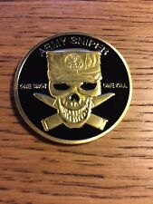 ARMY SNIPER ONE SHOT ONE KILL CHALLENGE COIN J8