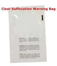 200 10x13 Self Seal Suffocation Warning Clear Poly Bags 15 Mil Free Shipping