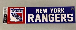 New York Rangers Vibrant Official NHL Team Logo Car Bumper Sticker Decal Decor