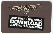 METALLICA 2015 fan club MP3 Song Download Card!!!