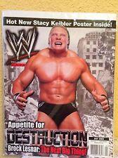 WWE MAGAZINE JULY 2002 FEATURES BROCK LESNAR WRESTLING SUPERSTARS