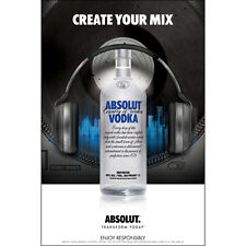 """ABSOLUT """"CREATE YOUR MIX"""" POSTER  24 BY 36 NEW"""