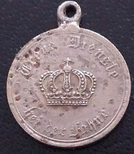 ✚4790✚ German Prussian army 9 Years Military Service Medal WW1 MINIATURE 16 mm