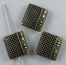 50pcs Tibetan Silver Rectangle Spacers 10x9x4mm ZN29281-2