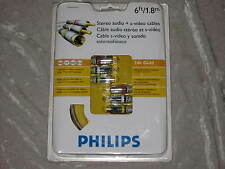 6 ft. Philips S Video Stereo Audio Cable TV A/V DVD TV Satellite Receiver NEW!