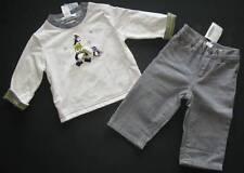 Janie & Jack boy Winter sled penguin holiday jean pants reversible top shirt 3-6