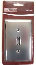 64139 Chrome Stamped Metal Single Switch Cover Plate