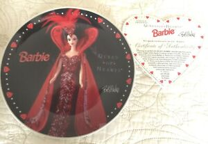 """Valentines Barbie Collector's Plate - """"QUEEN OF HEARTS"""" By Bob Mackie"""