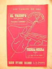 Partitur El Triunfo Canaro Tango Tierra Negra Noli Leone