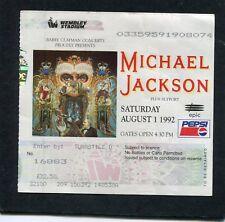 Original 1992 Michael Jackson Concert Ticket Stub Wembley London Dangerous Tour