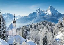 Snow Scenery Mountain view  Photo Poster Print ONLY Wall Art A4