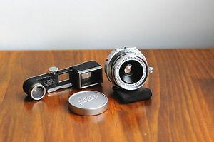 LEICA Summaron  35mm f/3.5   w/ goggle finder attachement    , M mount Leitz Len