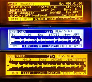 AKAI MPC2000XL and MPC2000 Classic BRAND NEW LED Screen Display ORANGE BLACK BLU
