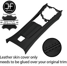 BLACK STITCH CENTRE CONSOLE + ARMREST LEATHER COVERS FOR FIAT 124 SPIDER 16-20