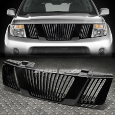 FOR 05-07 PATHFINDER/08 FRONTIER GLOSSY BLACK VERTICAL FENCE FRONT UPPER GRILLE