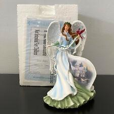 "Bradford Thomas Kinkade Holly Angel Gifts of Christmas Illuminated 7.5"""