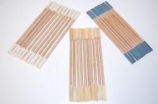 30 Reinigungsstäbchen je 10 mit  Leinen, Leder und Schmirgel bezogen, neu