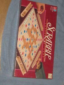 NEW Vintage SCRABBLE Game 1989 MILTON BRADLEY Wooden Tiles Factory Sealed NIB