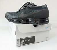 Nikelab Air Vapormax Flyknit Triple Black 1.0 OG 899473-003 Size UK 9.5 EU 42.5