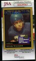 Doak Walker JSA Coa Autograph 1991 Enor Hall Of Fame Hand Signed