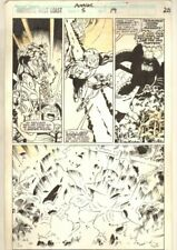 Avengers West Coast Annual #5 p.20 - Huge Explosion - 1990 art by James Fry