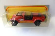 BURAGO 1:43 AUTO DIE CAST CAR JEEP CJ7 ROSSO RED #238 IN BLISTER