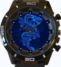 Chinese Blue Dragon New Wrist Watch FAST UK SELLER