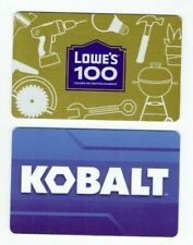 Lowe's Gift Card LOT of 2 -100 Years of Improvement (Anniver) & Kobalt -No Value