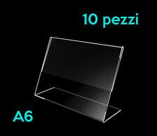 ARPEL Design - Espositore porta prezzi informazioni A6 in plexiglass 10 pezzi