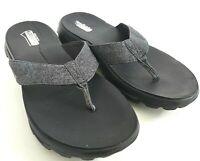 Skechers Walk Move Solstice Women's Size 9 Black Slip On Slipper Thong Sandals