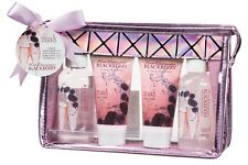 Glamorous Bathroom Gift Set with Celebrity Rose Champagne Blackberry Scent