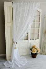 Van Deurs Gardine Rose Pure White 200 x 250 Landhaus Shabby Chic Vintage