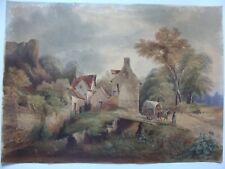 dessin ancien paysage 19e