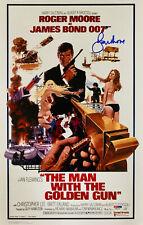 Roger Moore Signed James Bond 007 Movie Poster Photo 11 x 17 - PSA DNA COA