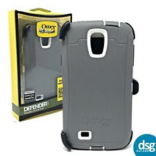 OTTERBOX DEFENDER COVER CASE FOR SAMSUNG GALAXY S4 HARD SHOCK GREY CLIP
