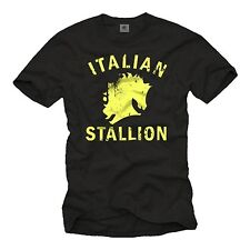 Vintage Porno Herren T-Shirt mit ITALIAN STALLION - Männer Rocky Balboa Shirt