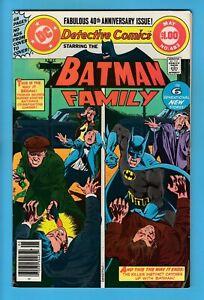 DETECTIVE COMICS # 483 VFN+ (8.5) BATMAN - 40th ANNIVERSARY ISSUE - CENTS- GIANT