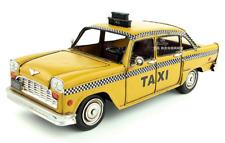 29CM Handmade Antique NEW YORK TAXI Car 1980 Cab Tin Metal Reproduction Model