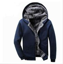 Men's Thicken Hoodie Faux Fur Lining Coats Warm Winter Causal Jacket Parka Coats