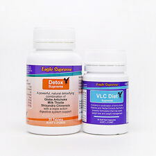 VLC Weight Loss Diet 25 Day Soft-Gel Caps & Detox Refill Pack Eagle Supreme