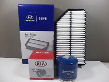 GENUINE KIA RIO UB & YB 1.4L & 1.6L PETROL FILTER PACK (OIL FILTER + AIR FILTER)