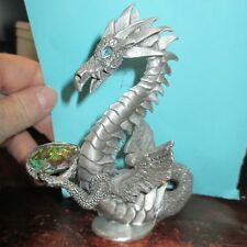 Rawcliffe Pewter Dragon w Egg 2001 #1141065 blue eyes