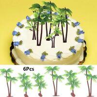 6-teilig Palme Kuchen Dekoration Cupcake Deckel Kokosnuss Baum Plastik