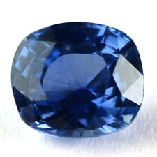 IGI Certified Natural Top Blue Sapphire 6.8x6x4.5 Cushion Cut 1.54 Cts Sri Lanka
